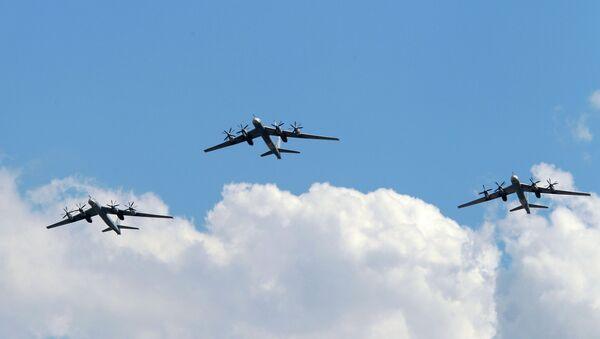 Самолеты Ту-95МС ВВС РФ. Архивное фото