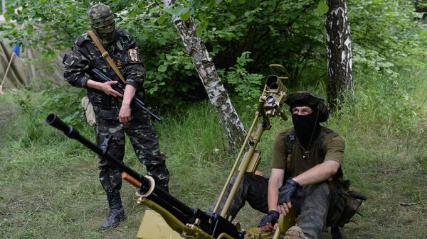 Боец народного ополчения на востоке Украины