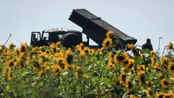 Украинские военные в районе города Северск, 11 июля 2014. Архивное фото