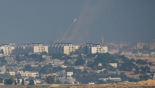 Ракеты, запущенные в сторону Израиля из Сектора Газа. Архивное фото