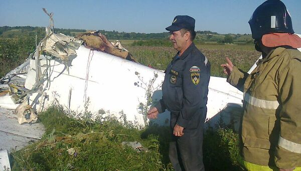Легкомоторный самолет упал в Рязанской области