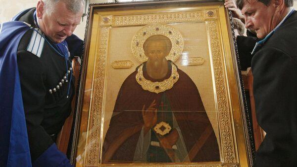 Мощи Сергия Радонежского доставили в Грозный