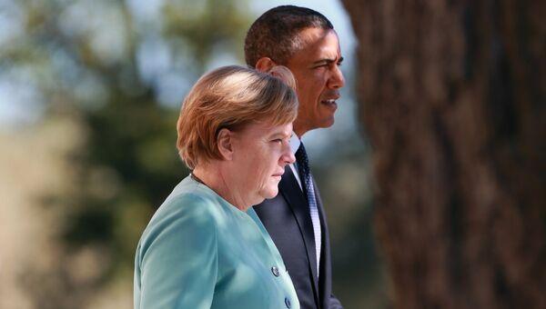Федеральный канцлер Германии Ангела Меркель и Президент Соединенных Штатов Америки (США) Барак Обама. Архивное фото
