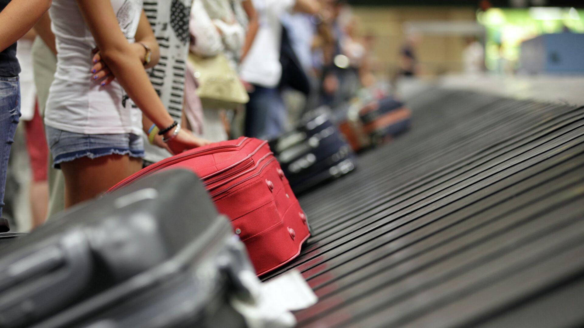 Туристы с чемоданами в аэропорту - РИА Новости, 1920, 07.06.2021