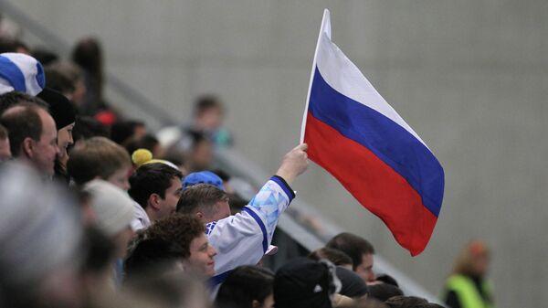 Болельщики с флагом России. Архивное фото