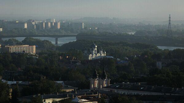 Вид на город Великий Новгород. Архивное фото