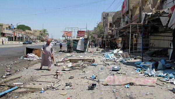 Последствия терактов в Багдаде 19 июля 2014. Архивное фото
