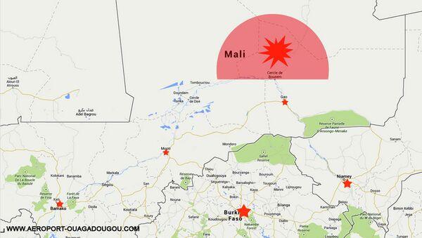Карта территории, где потерпел крушение самолет авиакомпании Air Algerie