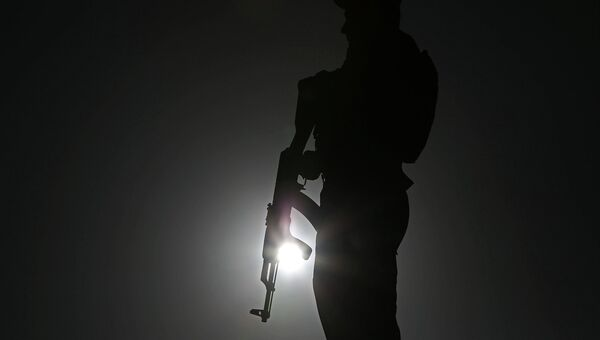 Полицейский с оружием, Афганистан. Архивное фото