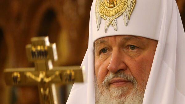 Патриарх Кирилл освящает храм святого Александра Невского в Калининграде