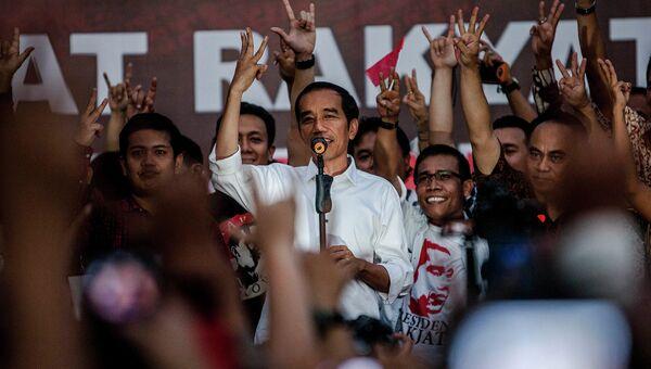 Победитель на президентских выборах в Индонезии Джоко Видодо