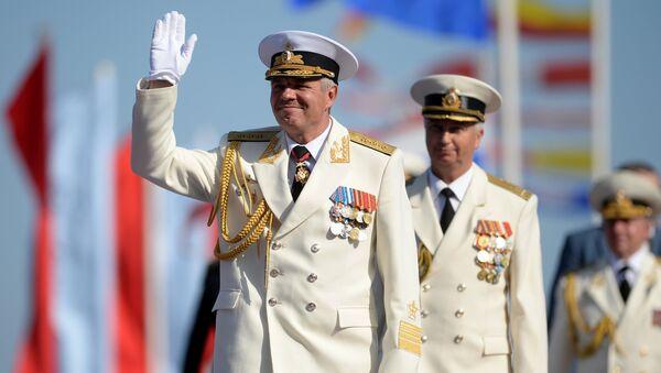 Командующий Черноморским флотом Российской Федерации адмирал Александр Витко. Архивное фото