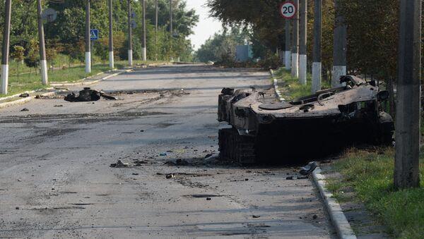 Ситуация в Шахтерске Донецкой области. Архивное фото