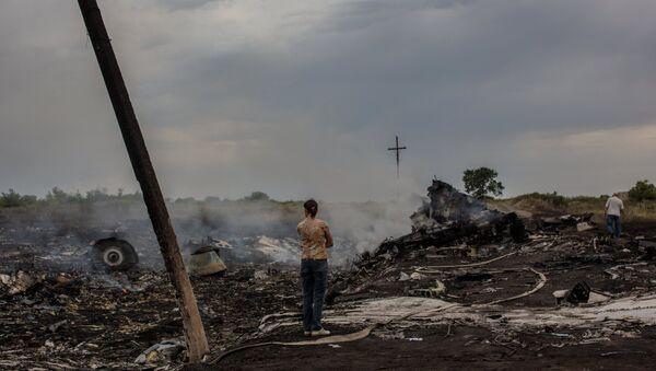 На месте крушения малайзийского самолета Boeing 777, архивное фото