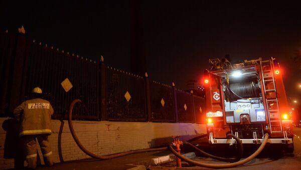 На месте пожара на московском заводе Серп и Молот