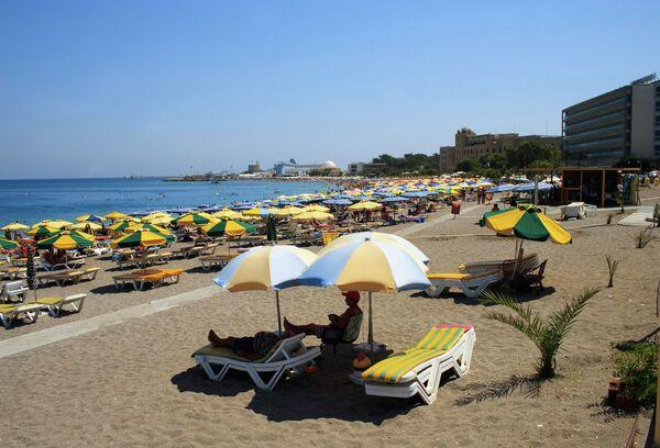 Пляж на острове Родос
