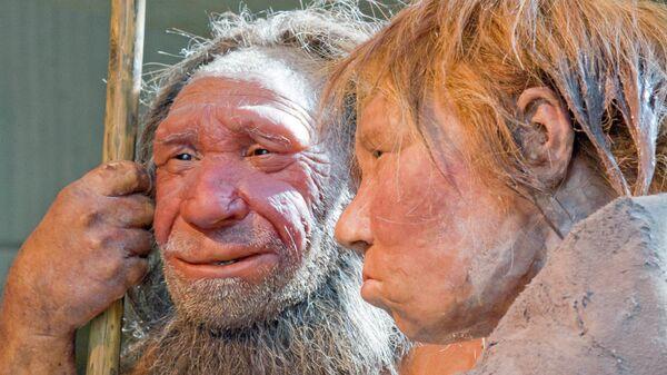 Внешний вид неандертальца, воссозданный учеными. Архив