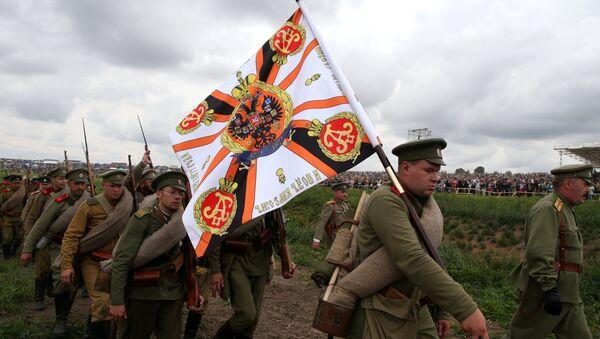 Участники исторической реконструкции Гумбинненское сражение
