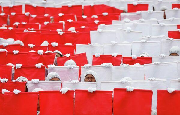 Репетиция выступлений ко Дню Независимости Куала-Лумпура