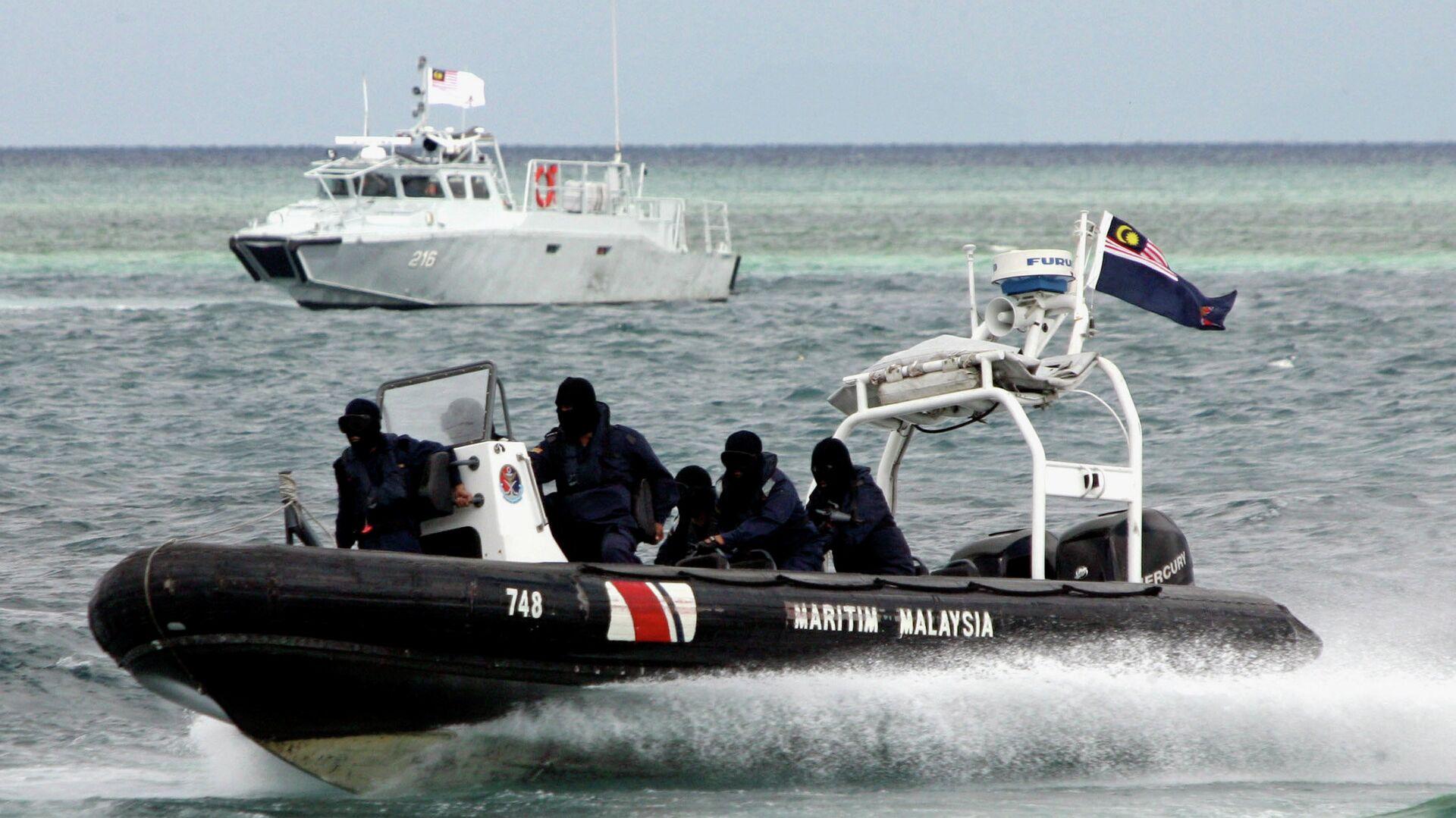 Спецподразделение морской полиции Малайзии по борьбе с пиратством. Архивное фото - РИА Новости, 1920, 26.09.2019