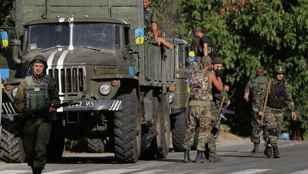 Украинские силовики на востоке Украины. Архивное фото