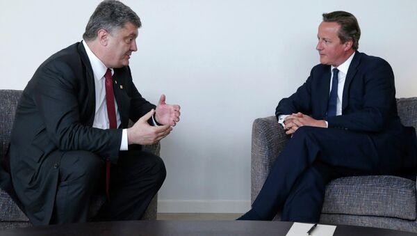 Президент Украины Петр Порошенко и премьер-министр Великобритании Дэвид Кэмерон