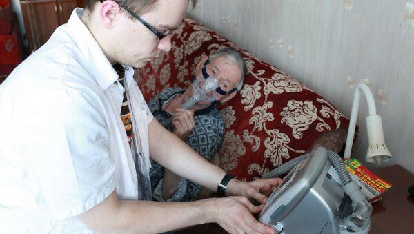 Подключение дыхательного аппарата больному с диагнозом БАС