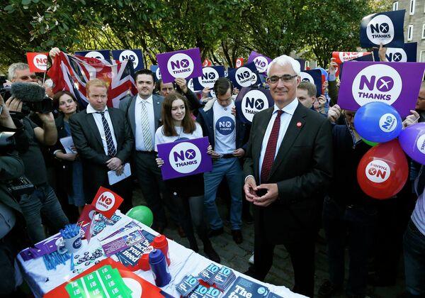 Алистер Дарлинг участвует в акции против независимости Шотландии