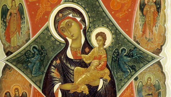 Репродукция иконы Неопалимая Купина