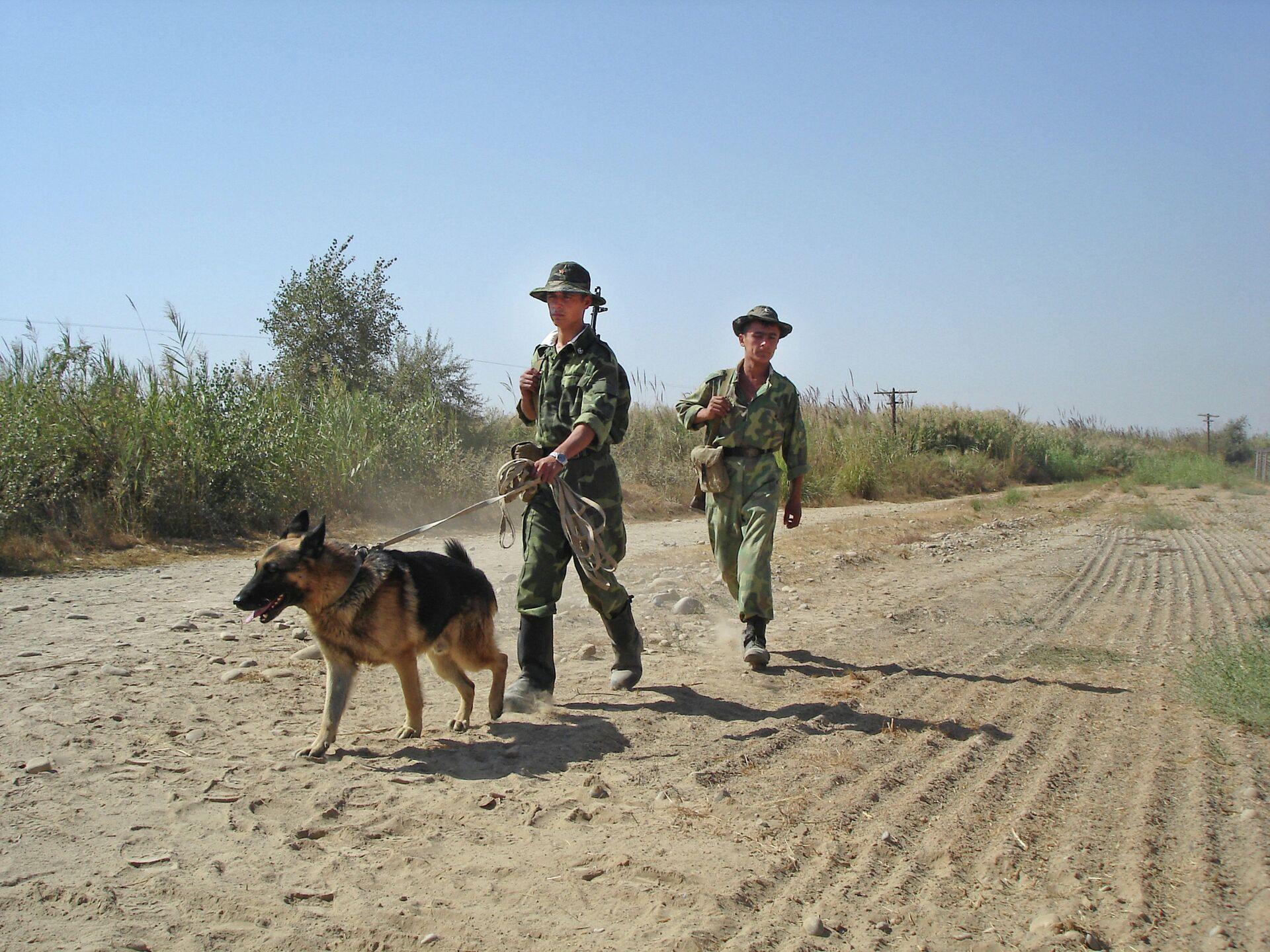 Таджикские пограничники на таджикско-афганской границе - РИА Новости, 1920, 01.07.2021