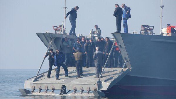 Десантный катер на воздушной каверне. Архивное фото