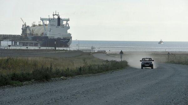 Залив Анива у побережья острова Сахалин
