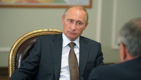 Встреча В.Путина с А.Костиным
