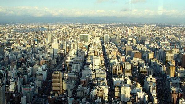 Вид на город Нагоя, Япония