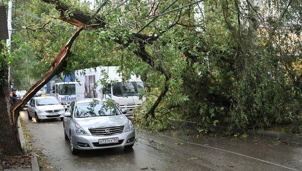 Последствия урагана в Ростовской области. Архивное фото