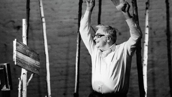 Народный артист России Юрий Петрович Любимов. Архивное фото