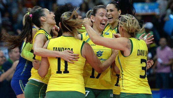 Волейбол. Чемпионат мира. Женщины. Матч Бразилия - Россия