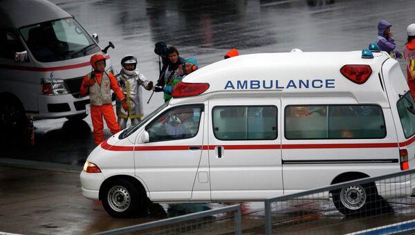 Гонщик Формулы-1 Жюль Бьянки доставлен в больницу после аварии на Гран-при Японии