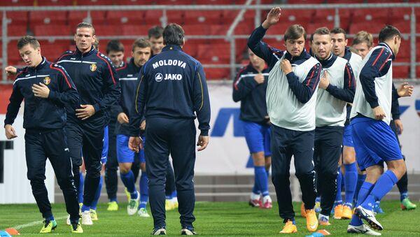 Футбол. Тренировка сборной Молдавии