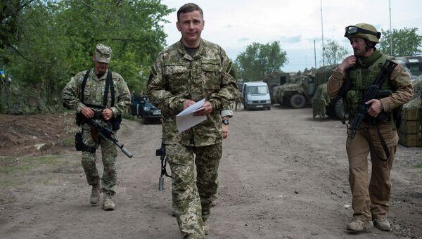 Генерал-полковник Валерий Гелетей в Славянске. 6 июля 2014