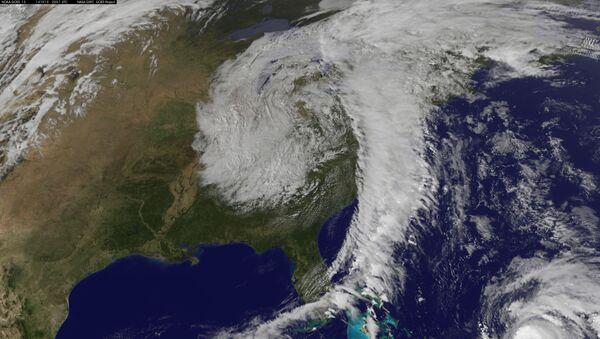 Ураган в Атлантическом океане. Архивное фото