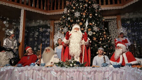 Празднование дня рождения Деда Мороза в Великом Устюге. Архивное фото