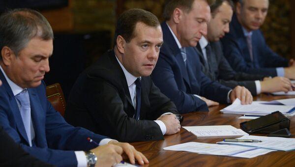 Встреча Д.Медведева с представителями партии Единая Россия