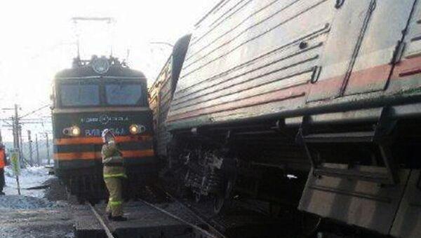 Столкновение поездов возле станции Сабик на Урале