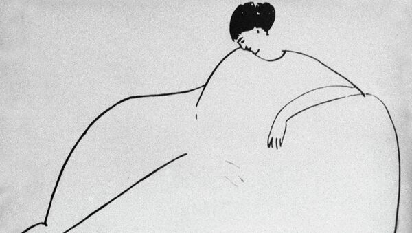 Репродукция портрета Анны Ахматовой, написанный художником Амадео Модильяни