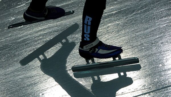 Конькобежный спорт. Архивное фото