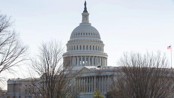 Здание Конгресса США на Капитолийском холме в Вашингтоне, архивное фото