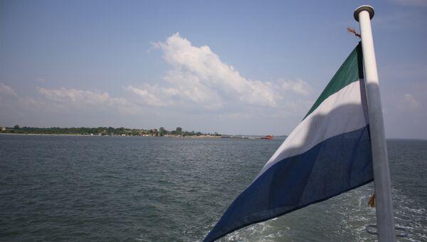 Флаг Сьерра-Леоне. Архивное фото