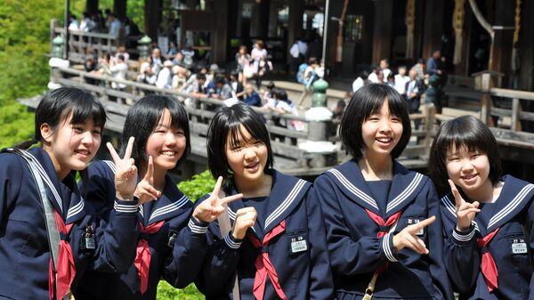 Японские школьники. Архивное фото