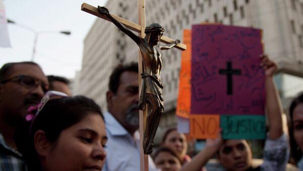 Демонстрация в Карачи из-за убийства христианской пары